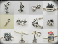 Cruise Ship BIG BEN Colosseum Eiffel Tower Happily Ever After 925 Silver charms