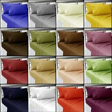 "SOLID 5PC SPLIT SHEET SET 15"" DEEP 1000TC EGYPTIAN COTTON CHOOSE SIZE & COLOR"