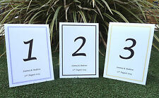 Free standing Wedding table numbers/name  - any colour