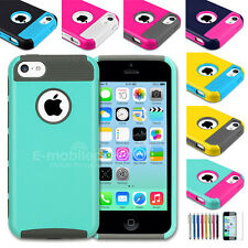 Colorful Color PC Shockproof Dirt Dust Proof Hard Matte Cover Case For iPhone 5C