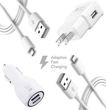 Car Charger + Wall Charger + 2x Data Sync Cable For Samsung Note 3 Galaxy S5