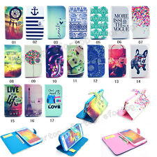 New Fashion Hybrid Flip Printed PU Leather Holder Wallet Case Cover For Samsung