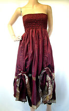 4 DRAW STRING Dress WENCH Boho  BELLY Dancing SKIRT HIPPY Steampunk
