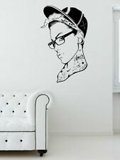 Tattooed Girl With Glasses - Modern Vinyl Wall Stickers Decal High Quality NEW