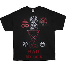 Hail my lord seal of lucifer pentagrams sigil/baphomet leviathan cross t shirt