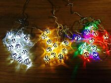 2M LED Christmas XMAS BAUBLE Tree party string outdoor garden garland lights