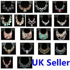Charm Fashion Jewelry Pendant Chain Crystal Choker Chunky Statement Bib Necklace
