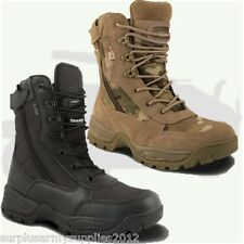 MILITARY SPECIAL OPS MTP OR BLACK BOOTS ZIP UP SIZE 4 - 12 MENS BRITISH ARMY
