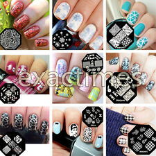 Latest Design Nail Art Image Stamp Stamping Plates Manicure Template 8-patterns