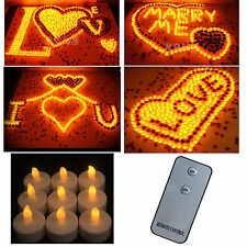 HOT Flameless LED Wedding Tea Light Tealight Candle Yellow & Remote Control