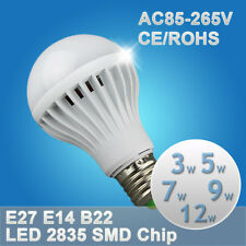 CE E26 E27 B22 E14 110V 220V LED Bulb 3W 5W 7W 9W 12W warm cool white Light Lamp