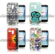 For Motorola Moto G Lovely Painted TPU Gel Soft Case Rubber Silicone Skin Cover