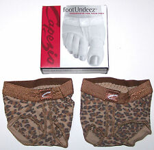 New Capezio FootUndeez Shoe Foot Underwear Leopard Animal Print Nice Cute Adult