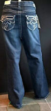 NEU sexy Damen Denim Bootcut Jeans Hose Dark blue blau Stretch 44 46 48 50 52 54