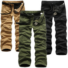 Men's Winter Warm Thick Casual Military Army Combat Cargo Zipper Pants Trousers