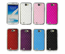 Luxury Bling Crystal Diamond Plating Hard Case Cover Skin For LG Various phones