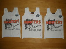 HOOTERS SEXY AUTHENTIC 20TH ANNIVER WHITE UNIFORM TANK TOP SANTIAGO CHILE XSMALL