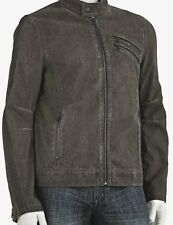 ROCK & REPUBLIC Mens Motorcycle Faux Suede Leather Bomber Jacket XXL 2XB 2XL