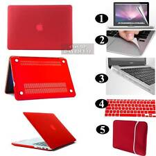 NEW Red Frosted Matte Rubberized Hardshell Hard Case Cover For Apple MacBook