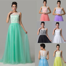 ❤ON SALE❤Lace Tulle Bridesmaid Prom Evening Formal Party Bridesmaid LONG Dresses