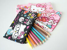 Hello kitty Pencil Case Cosmetic Pen Pouch Bag Makeup Brush Art