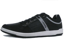 Levi's Mens Shoes Black Leather Sneakers Trainers 222487-1704