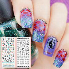 Pretty Mermaid Rose Love Letter Design Print Nail Art Water Decals Stickers