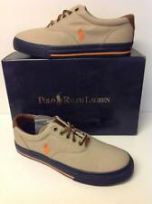 POLO RALPH LAUREN VAUGHN KH/BSO/N CANVAS/LEATHER NEW TO THE MARKET