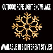 Incandescent Christmas Rope Light Snowflake - Frosted White and Blue Color