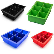 Multi Colors Choose Larger Silicone King Cube Ice Tray/Freezer Mold