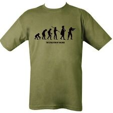 MILITARY T-SHIRT EVOLUTION OF SOLDIER MAN HUNTER BRITISH ARMY MARINE SNIPER