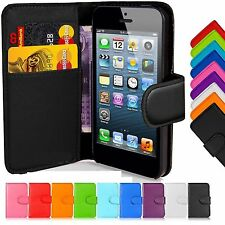 New Wallet Leather Case Cover For Apple iPhone 4, 5, 6