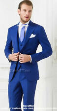 CUSTOM MADE Royal Blue Men Suit, Tailor Made 2 Button Peak Lapel Wedding Tuxedo