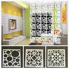 8PC White Hanging Screen Partition Home/Office/Store Divider Wall Sticker Decor