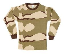 Men's Long Sleve Desert Camo Thermal Shirt in XL-2X-3X-4X or 5X NIP by ROTHCO