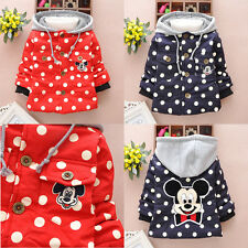 Baby Toddlers Girls Boys Mickey Mouse Lined Coat Kids Winter Warm Jacket Outwear