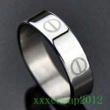 Classic Engraved screw stainless steel ring A146