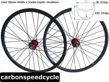 CSC Hookless 30mm width 29er carbon mountain wheelset tubeless compatible AM/DH