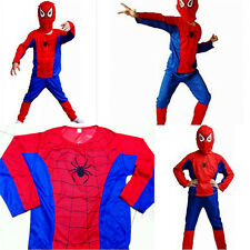 (Spider man) Boy halloween costume fancy dress ball suit set theater reenactment