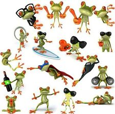 3D Cute Peep frog funny car stickers Truck Window Vinyl Decal Graphics Sticker