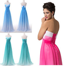 STOCK Long Colorful Gradient Evening Bridesmaid dress Prom Formal Party Dresses