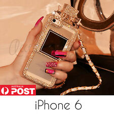 Luxury Bling Diamond Crystal Bow Perfume Bottle Chain Case for iPhone 6 & 6 Plus