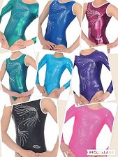 GYMNASTICS LEOTARD / LEOTARDS ZONE ORLA CRYSTAL SLEEVELESS / SLEEVED