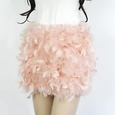 Female genuine ostrich feather fur dress for women ladies real fur skirts coats