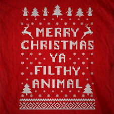Best Merry Christmas Ya Filthy Animal ugly sweater ever - humor movie tee tshirt