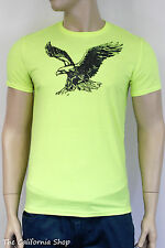 American Eagle Outfitters AE Graphic Crew Tee Mens Neon Yellow T-Shirt New NWT