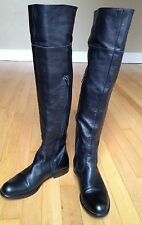 "ALDO Over the knee Black Leather Boots Sz 7 1/2 (38)  ""Excellent Used Condition"""