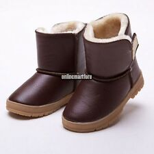 Winter Snow Boots Children Waterproof Boys Girls Cotton Lined Shoes For Kids