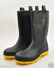 Men's Black Winter Snow Rain Boots Shoes Real Rubber Insulated Sizes Medium(D,M)