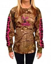BUCKED UP YOUTH PINK LOGO REAL TREE  LONG SLEEVE ONLY A FEW LEFT